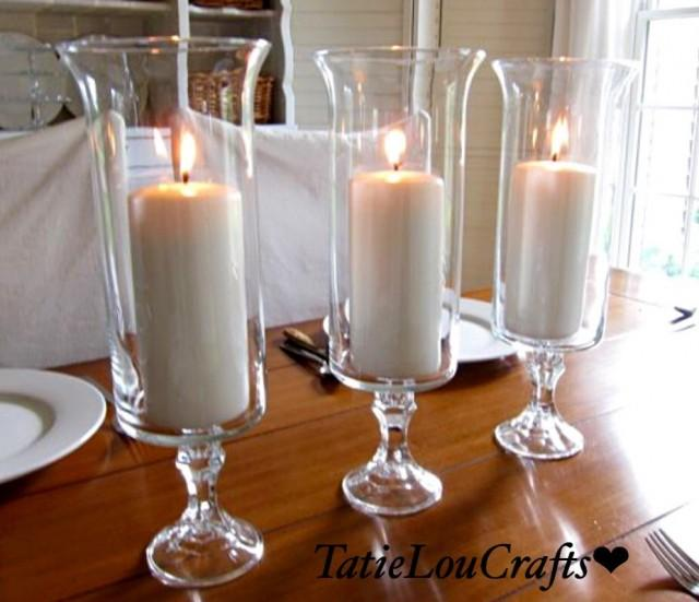 Set of quot clear glass wedding centerpieces table