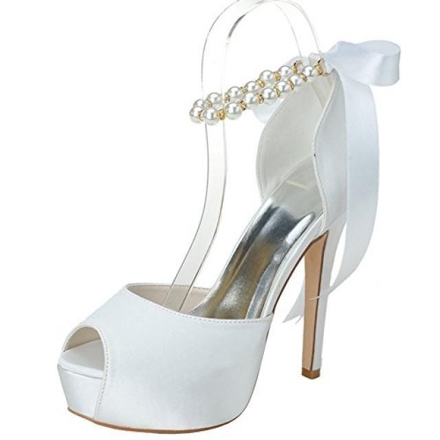 Wedding Shoes High Heels | Peep Toe Shoes 2 Weddbook
