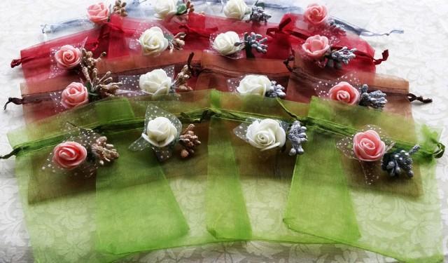 50 Organza BagsWedding Favor Bags Candy Drawstring Bags