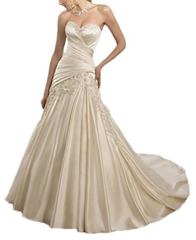 satin mermaid lace up back wedding dress 2467091 weddbook