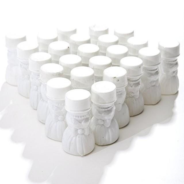 wedding photo - Wedding Gown Bubble Bottles, pack of 24
