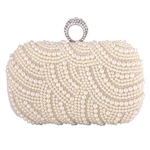 wedding photo - Pearl Wedding Hard Case Clutch