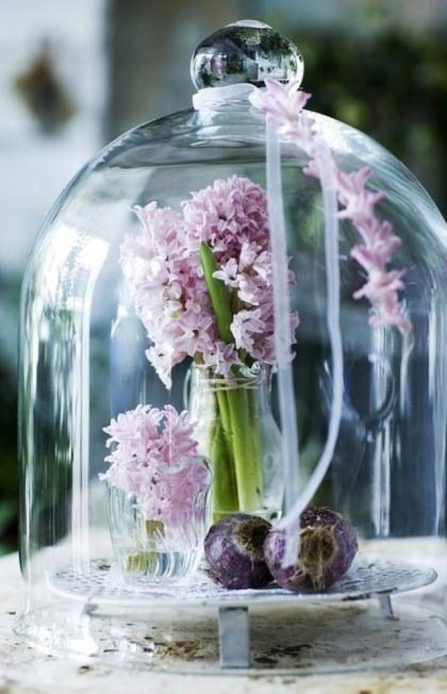 Glass bell jar wedding