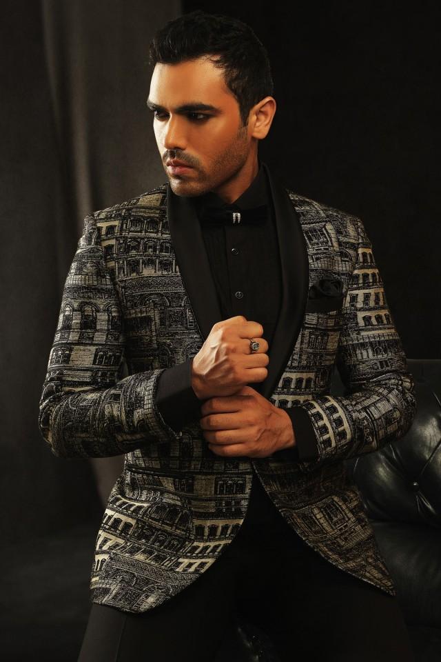 wedding photo - Black jute splendid prince suit with shawl lapel