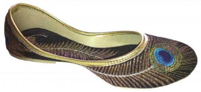 wedding photo - Handcrafted Luxury Women's Velvet Khussa Shoe