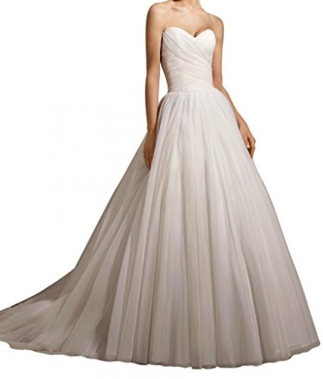 wedding photo - Sweetheart A-line Tulle Wedding Dress
