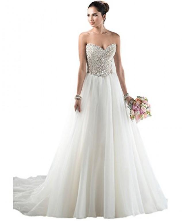 wedding photo - Sweetheart Beaded Bodice A-Line Bridal Gown