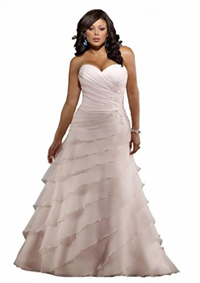 wedding photo - A-line Princess Sweetheart Court Train Tulle Lace Wedding Dress
