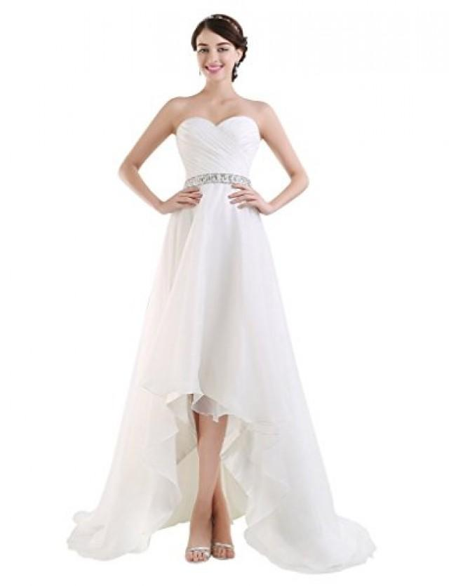 wedding photo - Sweetheart High-Low Wedding Dress
