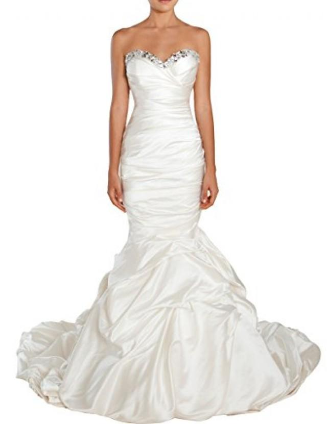 wedding photo - Strapless Satin Mermaid Wedding Dress