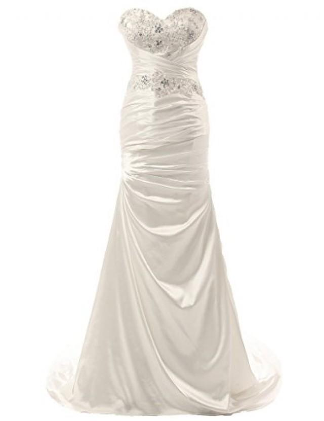 wedding photo - Gorgeous Sweetheart Mermaid Satin Wedding Dress