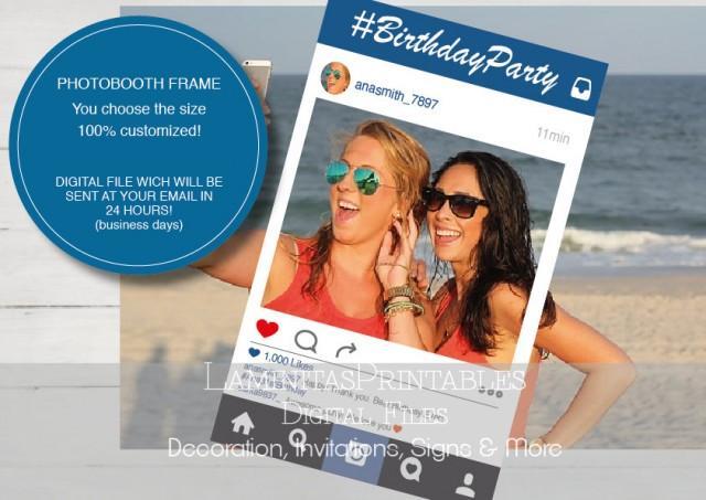 Social Media Photo Prop Social Media Props Social Media Frame Photo Booth Prop Props Wedding