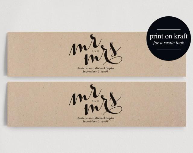 Wedding Water Bottle Labels - Personalized Water Bottle Label, Mr ...