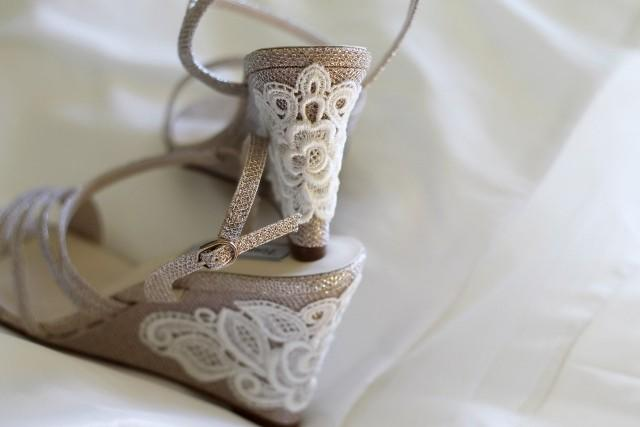 Ivory Wedding Wedge Heels: Wedding Shoes Gold Champagne Silver Wedge Sandals High