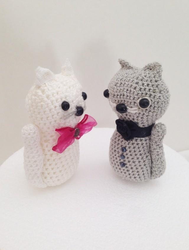 Amigurumi Valentine : Crochet Cats Amigurumi, Valentines Gift, Cats Wedding ...