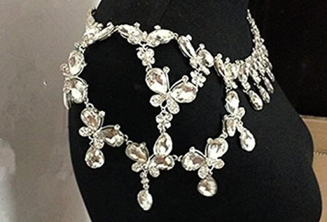 wedding photo - Crystal Rhinestone Shoulder Body Chain Necklace