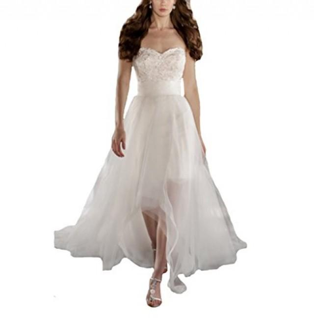 wedding photo - Strapless Bridal Gown Wedding Dress with Detachable Skirt