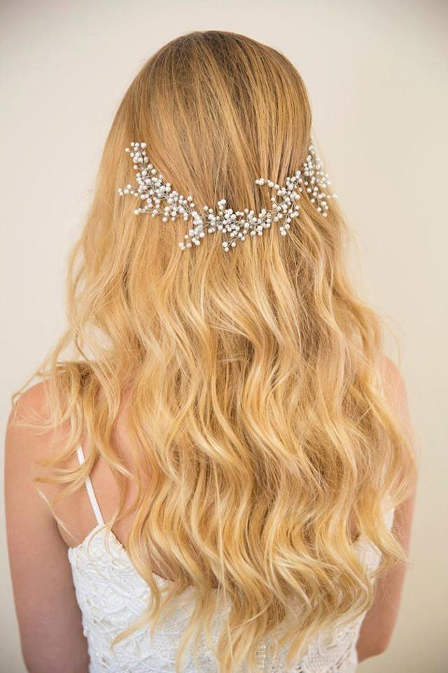 Sale Bridal Hair Vine Pearl Hair Accessories Wedding Headpiece Made Of White Pearl Babys
