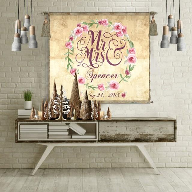 Wedding Gift Personalized Anniversary Gift Wall Art Wedding Sign Wedding Guest Book Alternative