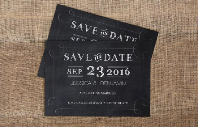 Editable PDF Wedding Save-the-Date - Handlettered ...
