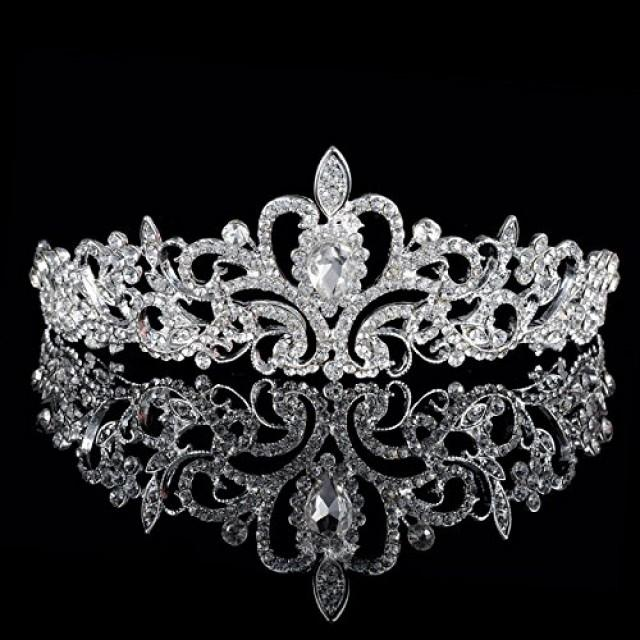 wedding photo - Crystal Hair Tiara Crown for Wedding