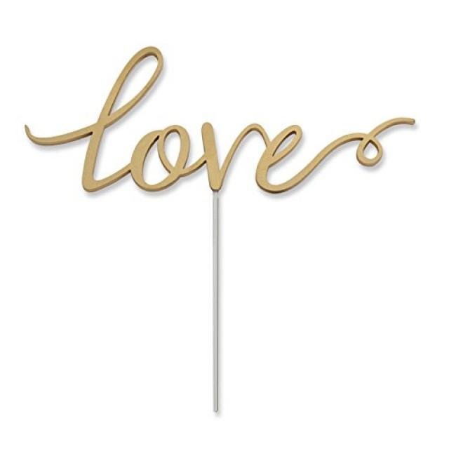 wedding photo - Love Cake Topper