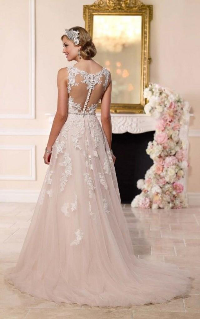 dress lace illusion back wedding dress 2473380 weddbook