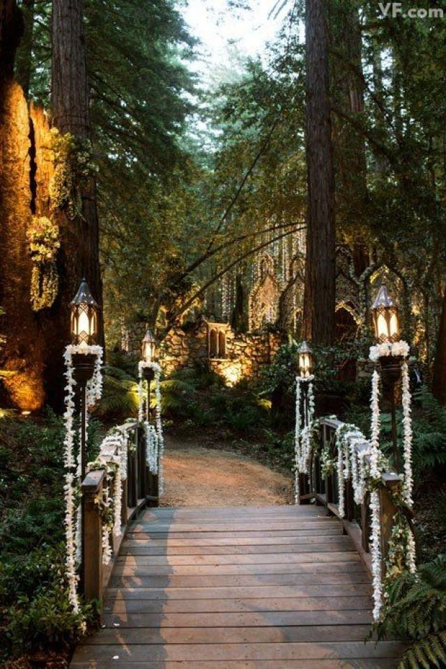 opulent celebrity redwood forest wedding channels tolkien and fairytales 2474197 weddbook