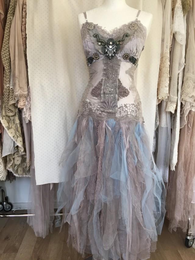 Alternative Wedding Dress Beach Wedding Victorian Tulle