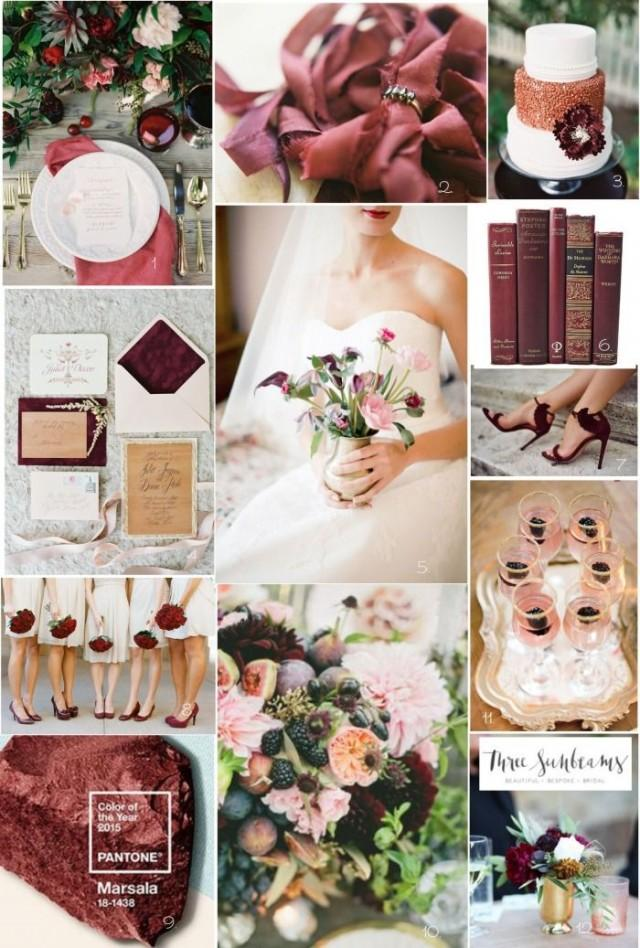 wedding photo - BURGUNDY WEDDING INSPIRATION