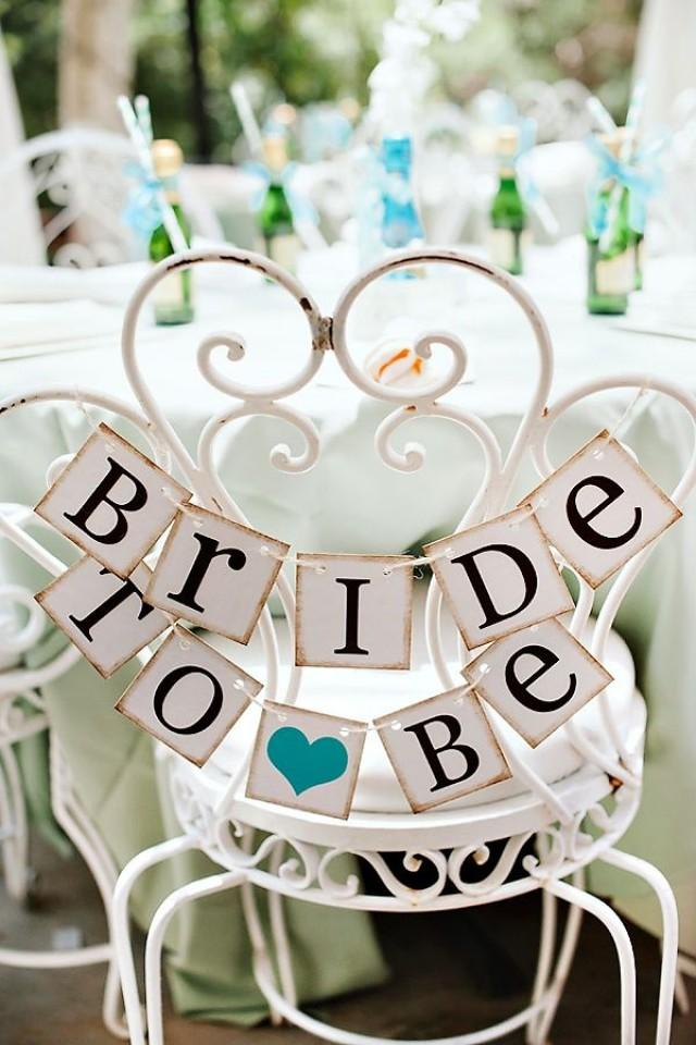 wedding photo - {Sweet & Chic} Teal Bridal Shower Luncheon