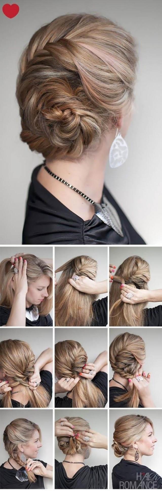 Легкие прически на средние волосы своими руками пошаговое фото