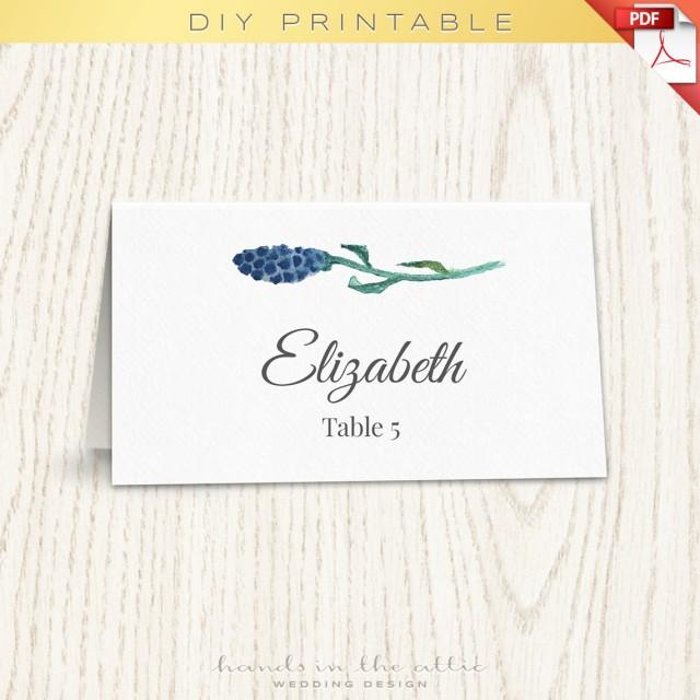 floral wedding placecard template printable cards