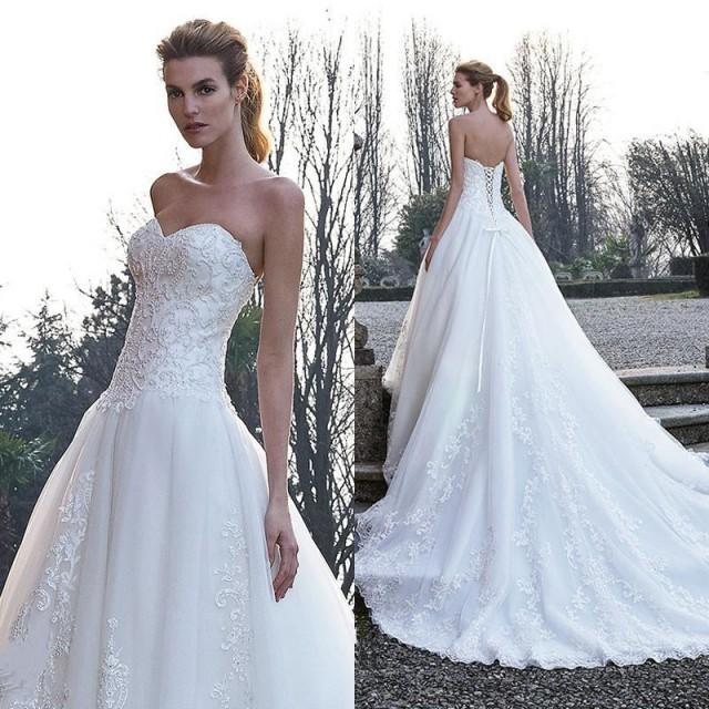 Wedding Gown Lace Up Back : Bridal dresses ball gowns lace up back with piece on
