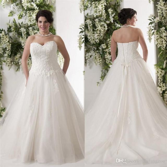 Wedding Gown Lace Up Back : Lace wedding dresses sweetheart neckline a line up back