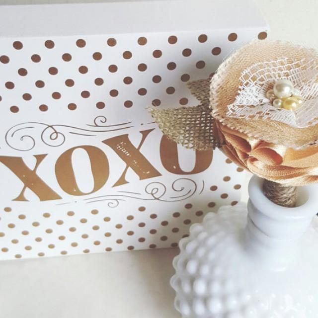 wedding photo - Guest book Sharpie Pen Gold-Vintage-Rustic-Flower Pen-Handmade