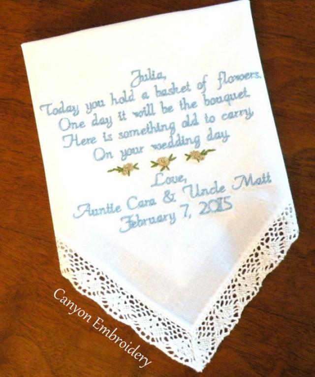 Wedding Gift Ideas For Flower Girl : ... Wedding Hankerchief, Flower Girl Wedding Gift, Wedding Gifts, By