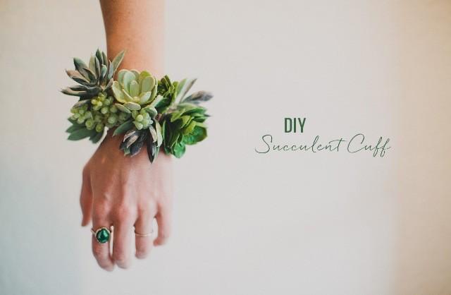 wedding photo - Simple And Elegant DIY Succulent Wrist Cuff For Bridesmaids - Weddingomania