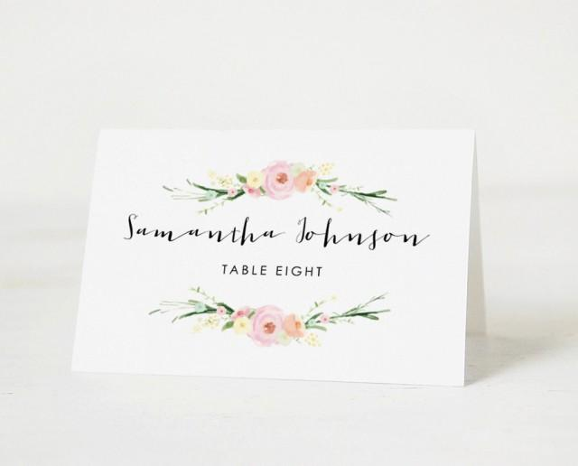 Printable place card template wedding place cards for Templates for place cards for weddings