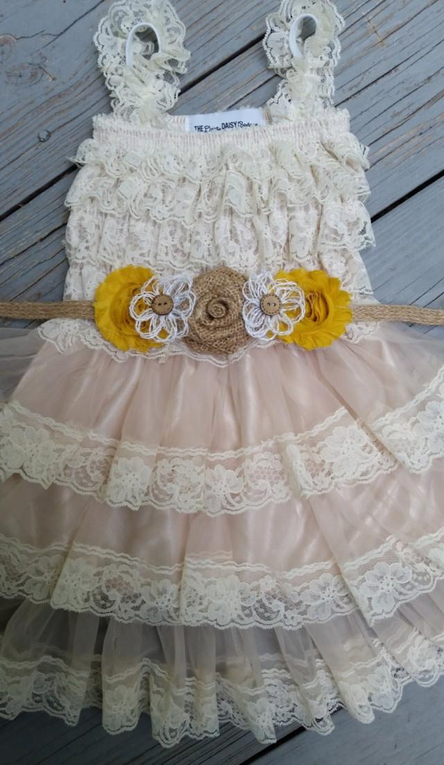 Rustic Flower Girl Dresses  Ruffles amp Bowties Bowtique