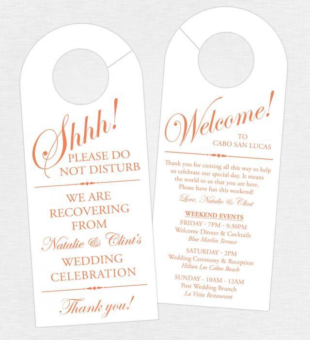 Set Of 10 Double Sided Door Hanger For Wedding Hotel