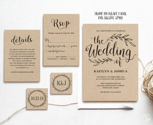 Wedding Invitations Software Free: Vintage Wedding Invitation, Printable Wedding Invitations