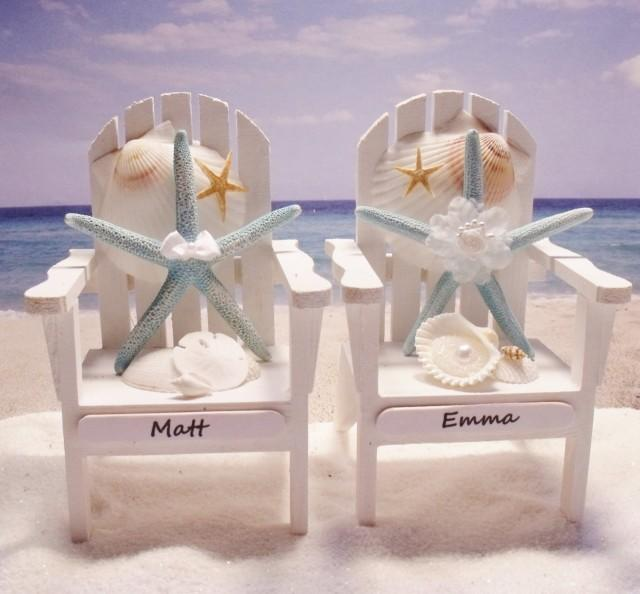 Starfish Adirondack Chairs Beach Themed Wedding