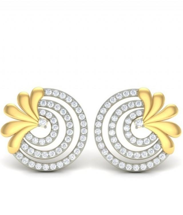 wedding photo - The Carol Diamond Earrings
