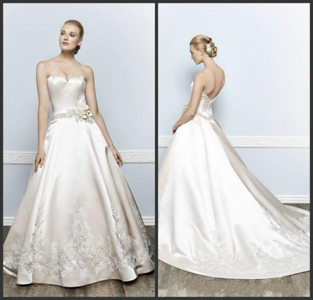 Ivory satin wedding dress gown and dress gallery for Wedding dress discount warehouse