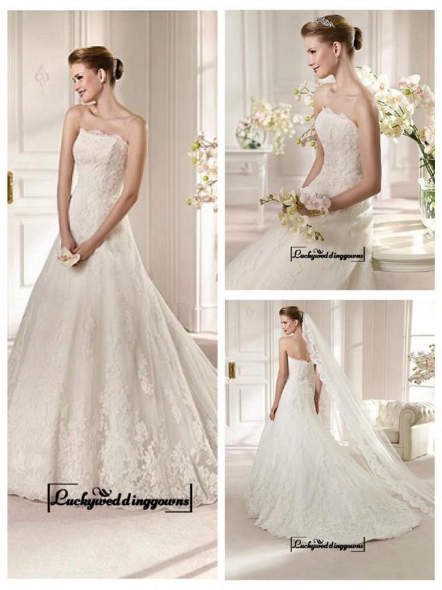 wedding photo - Alluring Satin&Tulle A-line Bateau Neckline Natural Waistline Wedding Dress