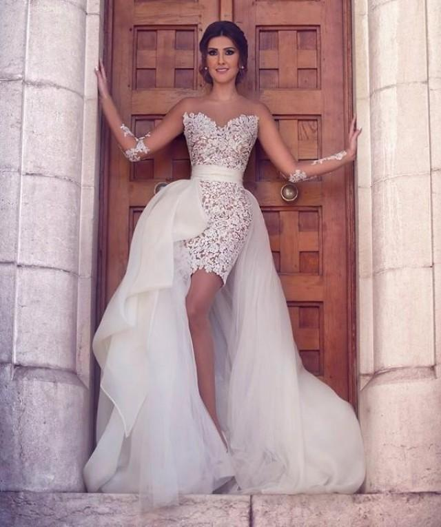 new arrival sexy beach wedding dresses with long sleeves bridal gowns