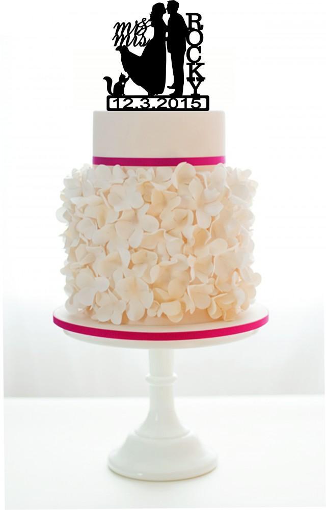 wedding photo - Wedding Cake Topper Silhouette