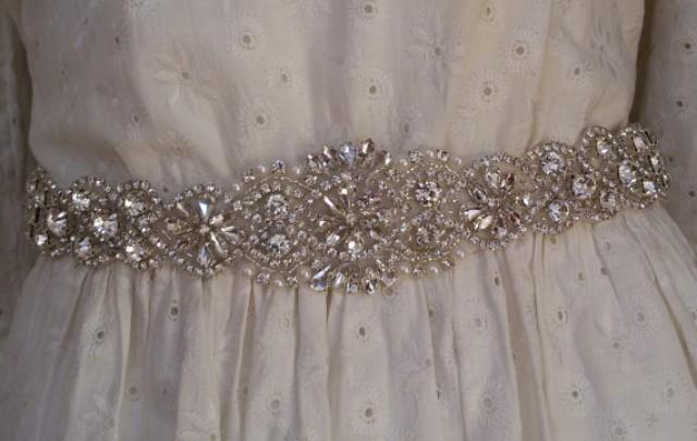 wedding photo - Wedding sash belt, Wedding sash, Wedding sashes and belts , Bridal belt, Crystal bridal sash, Satin ribbon with crystal and rhinestone,