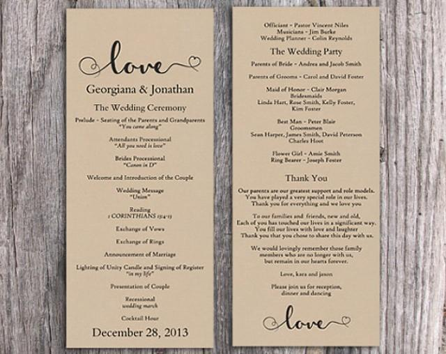diy wedding program templates word - poesiafm.tk